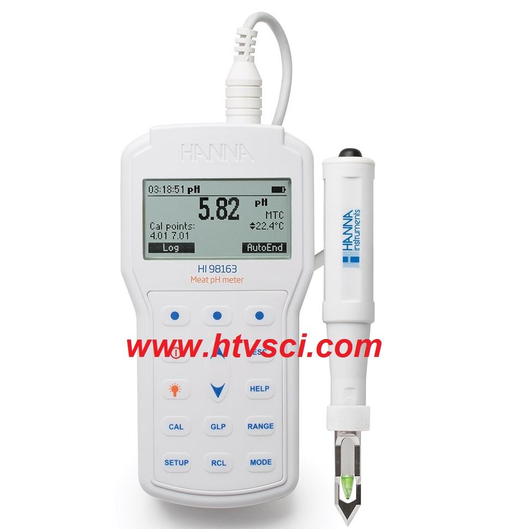 Máy Đo pH/Nhiệt Độ Trong Thịt HI98163
