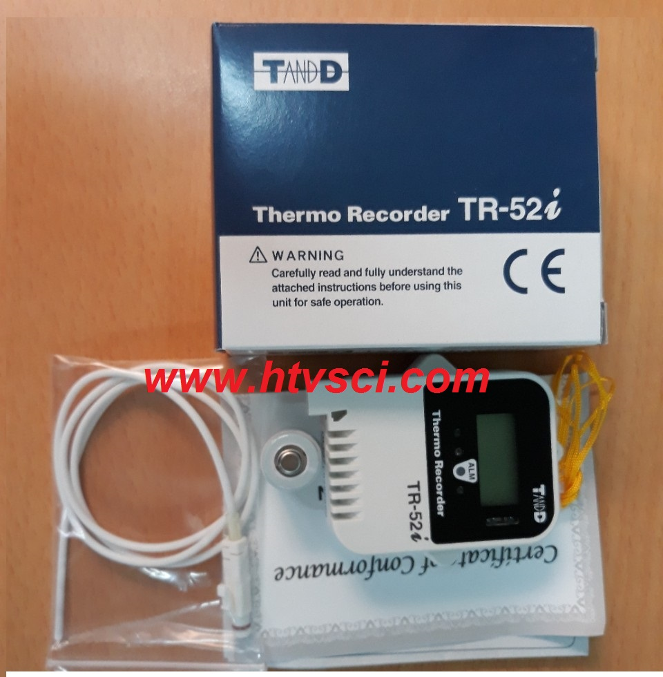 Thiết bị giám sát nhiệt độ TR-52i đầu dò ngoài và chống thấm nước TandD-Nhật