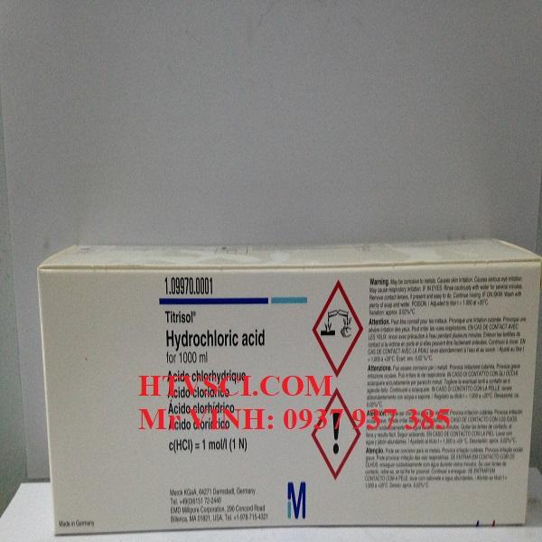 Ống chuẩn Hydrochloric acid 1N, HCl 1N, 1099700001