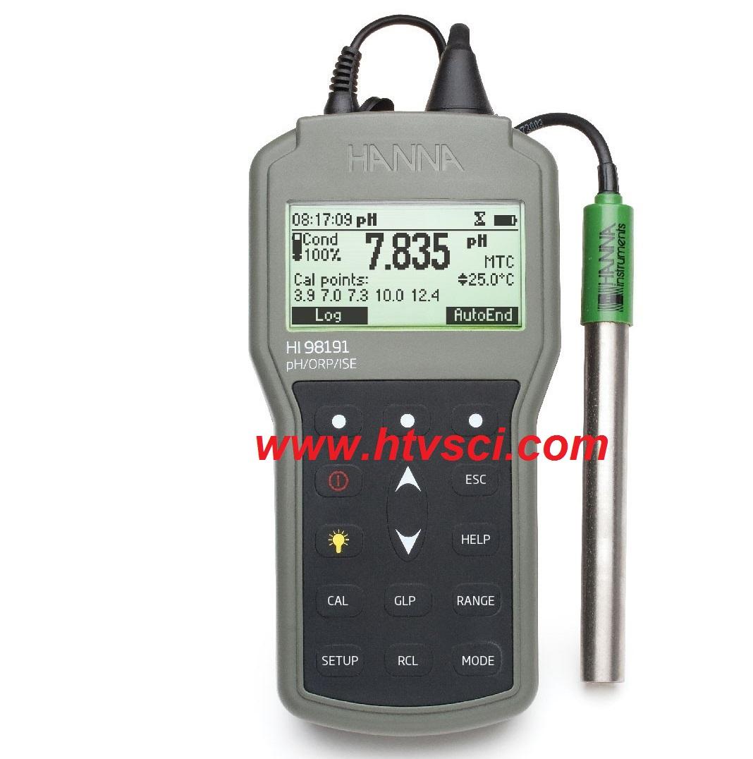 Máy Cầm Tay Hanna HI98191 pH/ORP/ISE/Nhiệt Độ