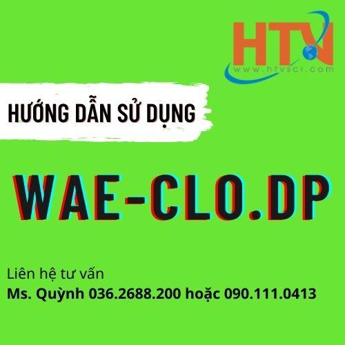 HDSD BỘ TEST KIT WAE-ClO.DP