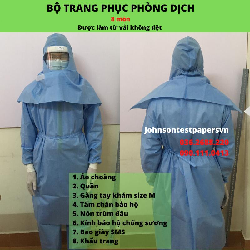 Bộ quần áo phòng dịch 8 món - Disposable scrub suit